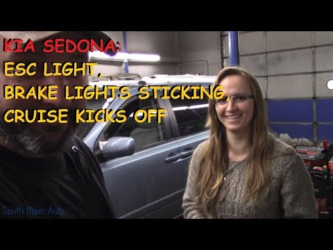 Kia Sedona - ESC Light On, Cruise Kicks Off, Brake Lights Come On C1513