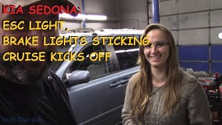 Download Kia Sedona - ESC light On, Cruise Kicks Off, Brake Lights Come On C1513 Mp3 and Videos