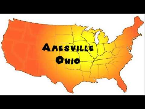 How to Say or Pronounce USA Cities — Amesville, Ohio