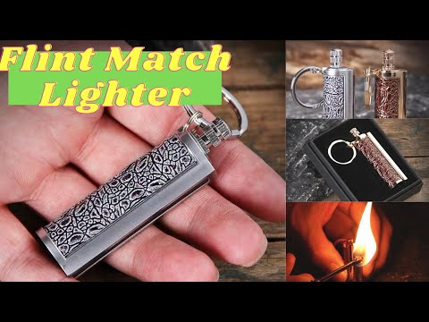 How to use flint match lighter - Great Camping Survival Gear