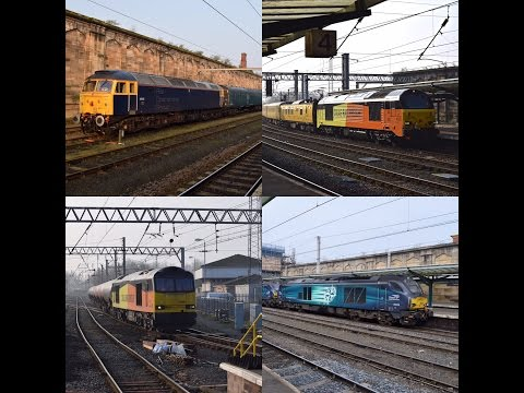 Freight Trains At Carlisle with ROG Class 47, Colas Class 67, DRS Class 68 & More!!! [HD]