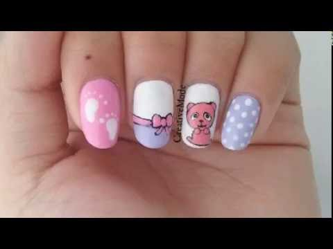 Baby girl nail art design youtube baby girl nail art design prinsesfo Images