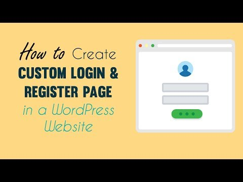 How to Create Custom Login & Register Page in a WordPress Site