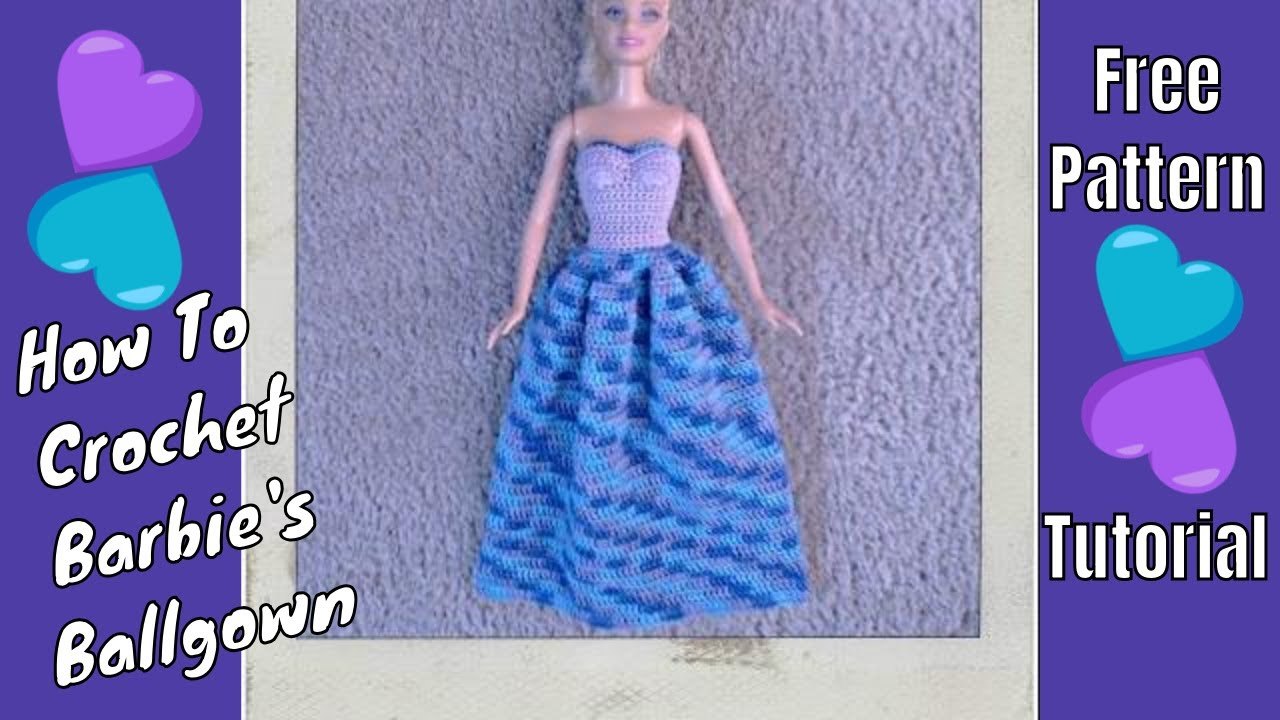 Barbie Clothes Strapless Ballgown Youtube