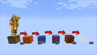 Minecraft DONT CHOOSE THE WRONG BLOCK OR YOU WILL DIE !! SURVIVE THE FALL !!
