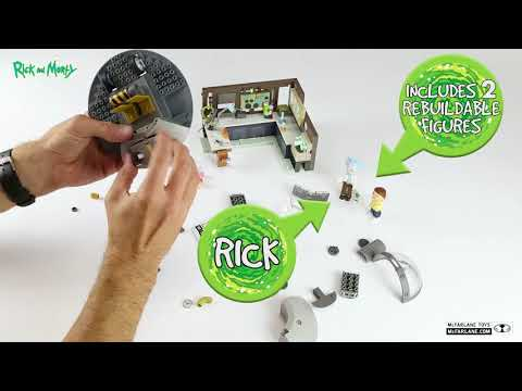 Rick and Morty Spaceship and Garage Construction Set - McFarlane Toys