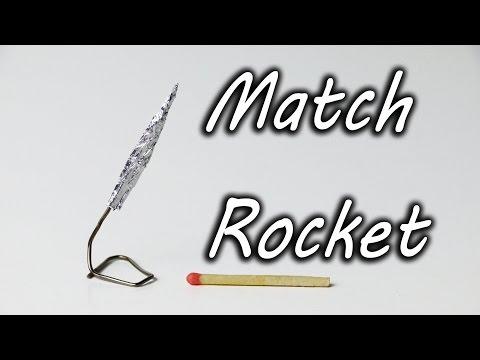Làm tên lửa bằng que diêm và giấy bạc