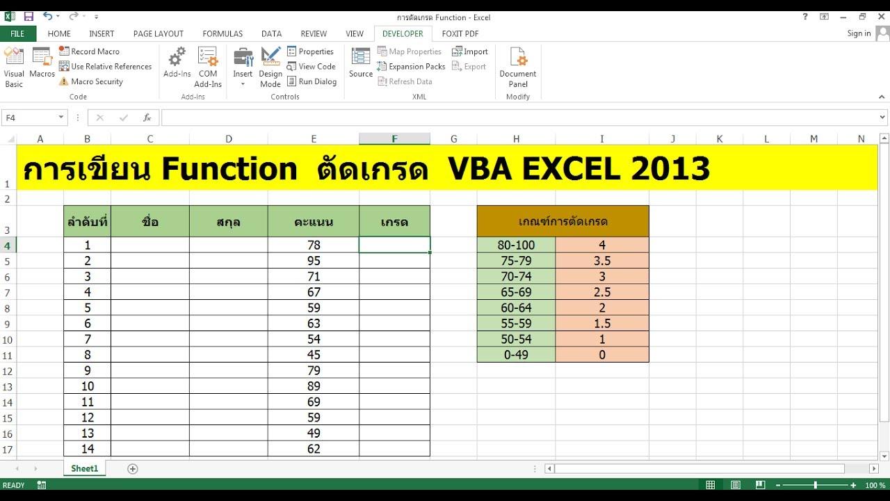 Vba Excel Function Vba Excel