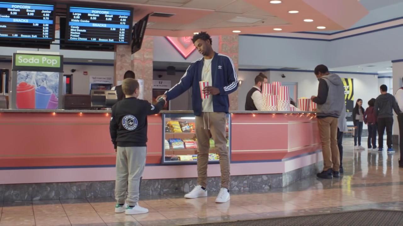 "45b4ae2cc adidas Originals   Kids Foot Locker commercial - Andrew Wiggins – ""Little  Pro"""