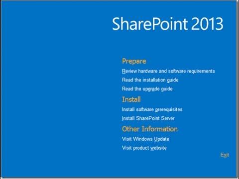 Install Sharepoint Server 2013 on Windows Server 2012