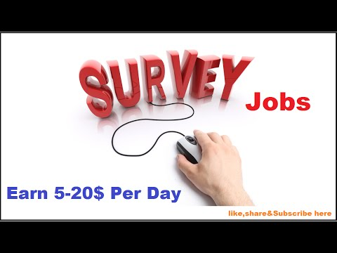 Online base survey part time job?how to do survey??