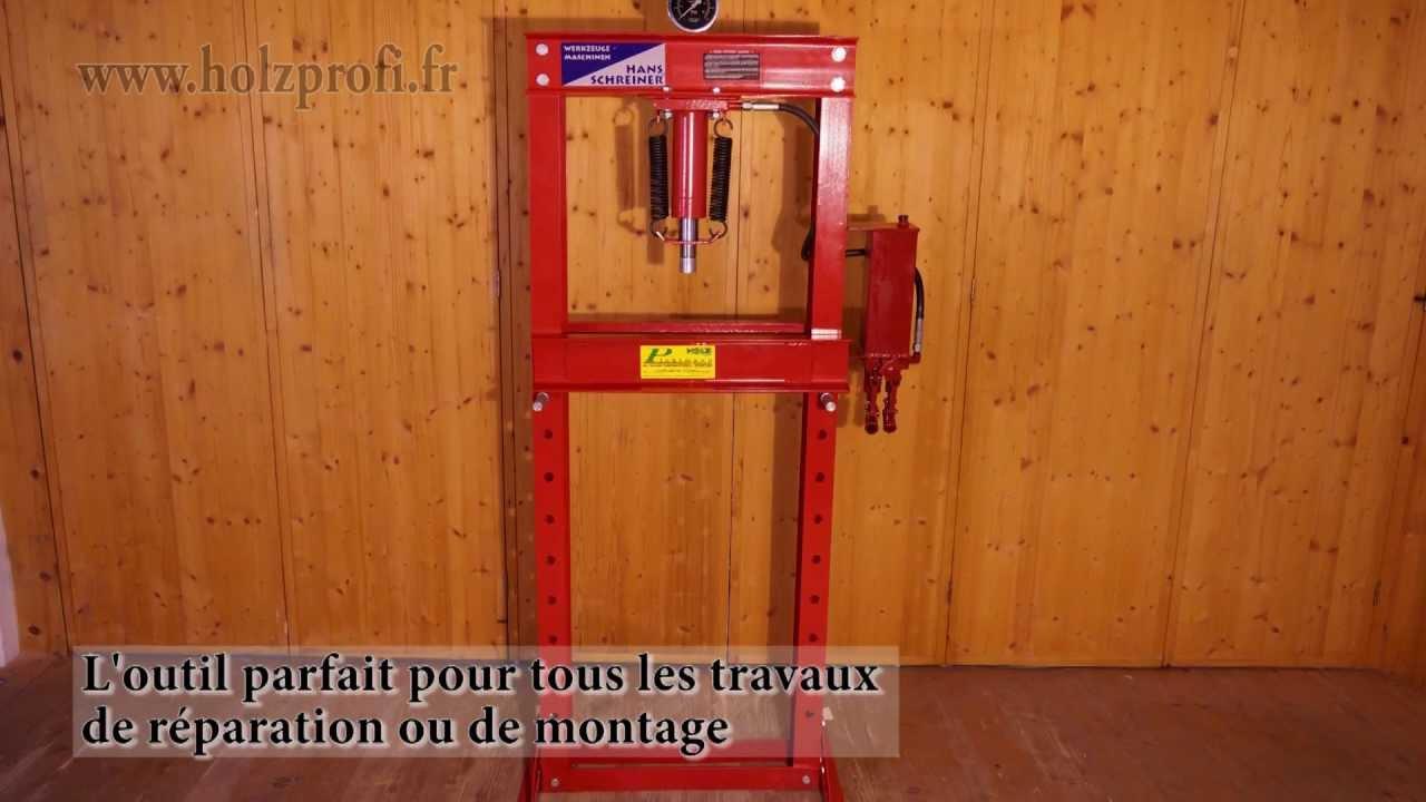 presse hydraulique d 39 atelier hyc20 metalprofi pour presser plier et aligner youtube