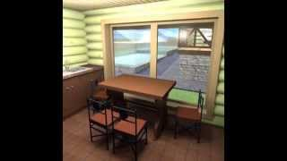 Проект бревенчатого дома 9х9 с баней 4х10(Дом 145 м2 и баня 38 м2 на участке шесть соток. Заказать проект или дом http://consult-build.narod.ru/index/kontakty/0-3., 2015-10-18T18:35:11.000Z)