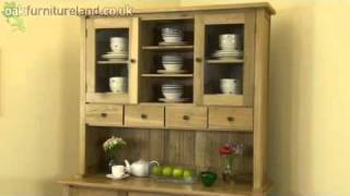 Solid Oak Tall Dresser From Oak Furniture Land