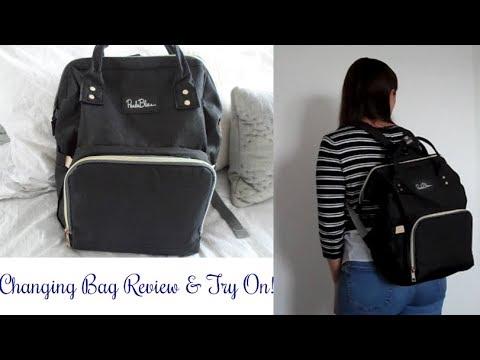 Panda Blue Backpack Changing Diaper Bag Review