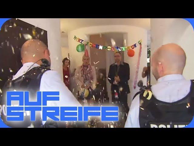 Konfetti für die Polizei: Plötzlich eskaliert die Überraschungsparty! | Auf Streife | SAT.1