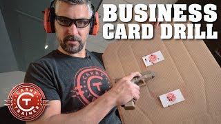 Business Card Drill - DIY Range Targets