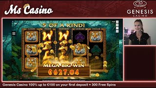 MEGA BIG WIN! On Exotic Cats! Latest Microgaming release!