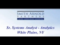 Sr. Systems Analyst - Analytics | New Job Opportunity | Smith Arnold Partners