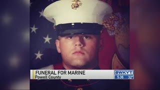 Funeral for Marine