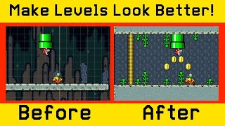 How To Make Your Levels Look BETTER In Super Mario Maker 2!