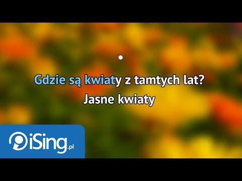 Sława Przybylska - Gdzie są kwiaty z tamtych lat (karaoke iSing)