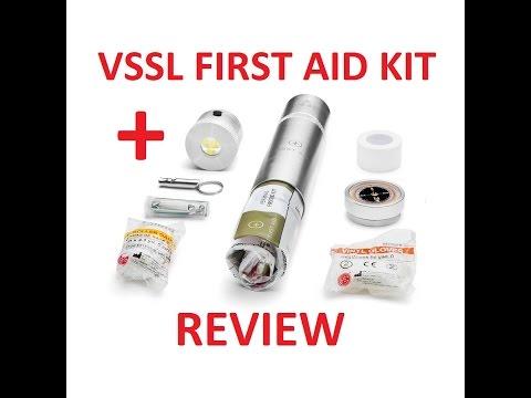 VSSL FIRST AID KIT REVIEW Survival Cache Tube Aluminum Light Wt Gear Part 1