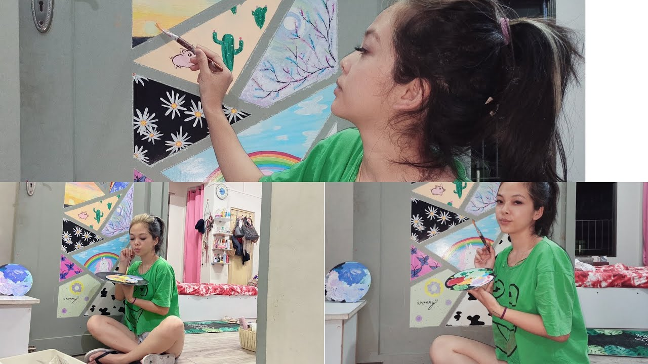 Painting my door | mizo vlog | Annabelle | stay at home ideas