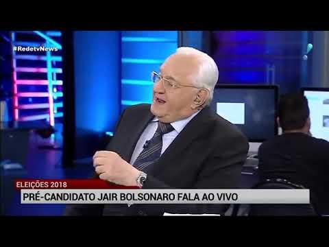 Amanda Klein e Boris Casoy entrevistam Bolsonaro na Redetv