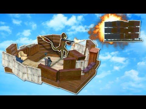 FLOATING BASE BATTLE! - Garry's Mod Gameplay - Gmod Base Building & Battle!
