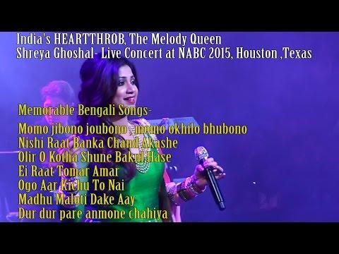 Shreya Ghoshal Memorable Bengali Songs at NABC 2015, Houston ,Texas