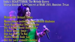 Shreya Ghoshal- Memorable Bengali Songs- at NABC 2015, Houston ,Texas