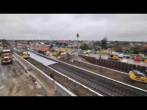 Major level crossing works at Bentleigh, Ormond, McKinnon