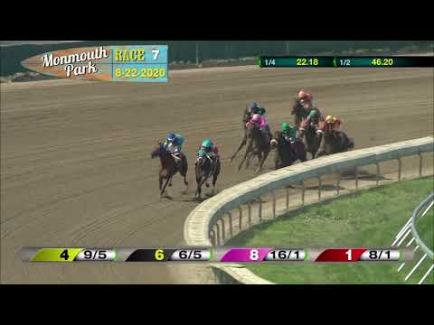 video thumbnail for MONMOUTH PARK 08-22-20 RACE 7