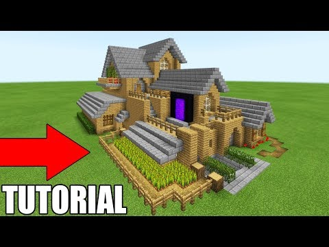 "Minecraft Tutorial: How To Make The Ultimate Survival House ""With Everything You Need To Survive"""