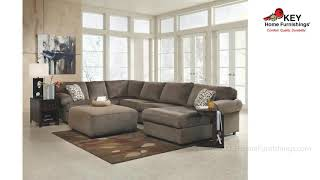 Ashley Jessa Place 3 Piece Sectional With Ottoman 39802R4 | KEY Home