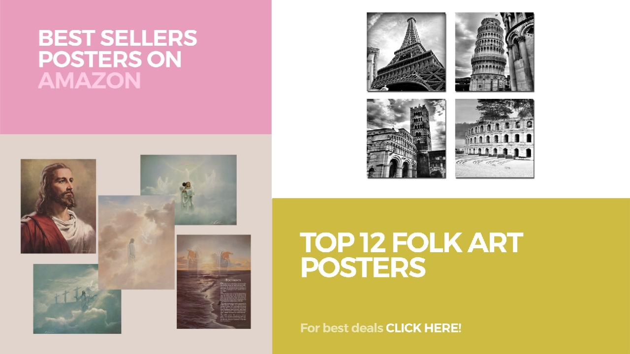 Top 12 Folk Art Posters // Best Sellers Posters On Amazon - YouTube