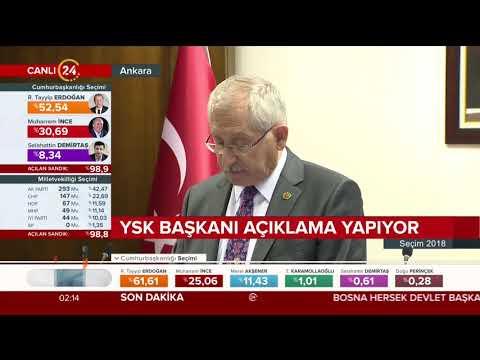 YSK Başkanı Sadi Güven oyların sisteme nasıl girildiğini anlatıyor