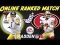 Madden 16 Xbox 360 Ranked Match Broken Foot Steelers Vs 49ers