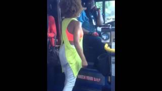 Lady goes Crazy, Car hit by CTA Bus