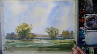 Watercolour in the style of Edward Wesson
