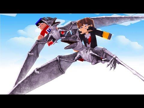Minecraft: DINOBLOCK Z - VOANDO EM DINOSSAUROS - ‹ JUAUM › #28