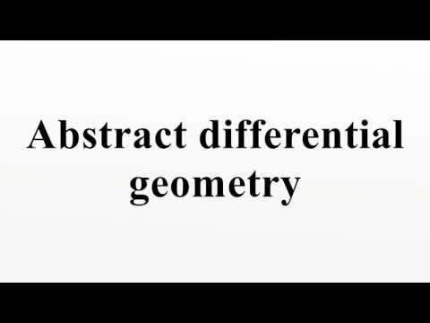 Abstract differential geometry
