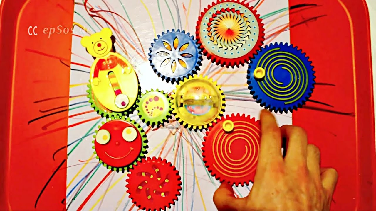 Education Toy with Gears for Kids - YouTube