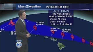 Guillermo remains strong tropical storm 350 miles east of Hilo