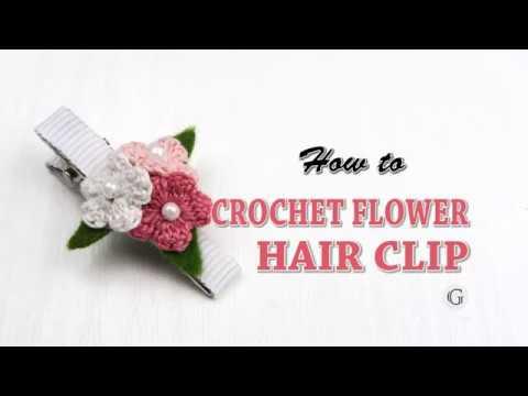 Easy Tutorial For Beginners Crochet Flower Hair Clip How To Line