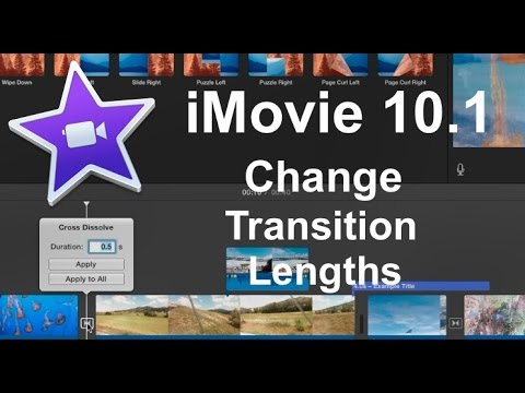iMovie 10.1 Quick Tip - Changing Transition Lengths