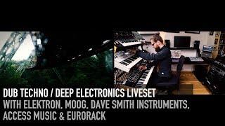 Dub Techno / Deep Electronics Liveset with Elektron - Moog - DSI - Eurorack #dubtechno #dawless