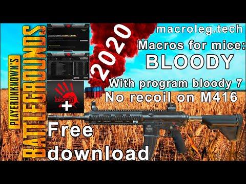Макросы для PUBG Bloody Macro No Recoil - M416. 2020