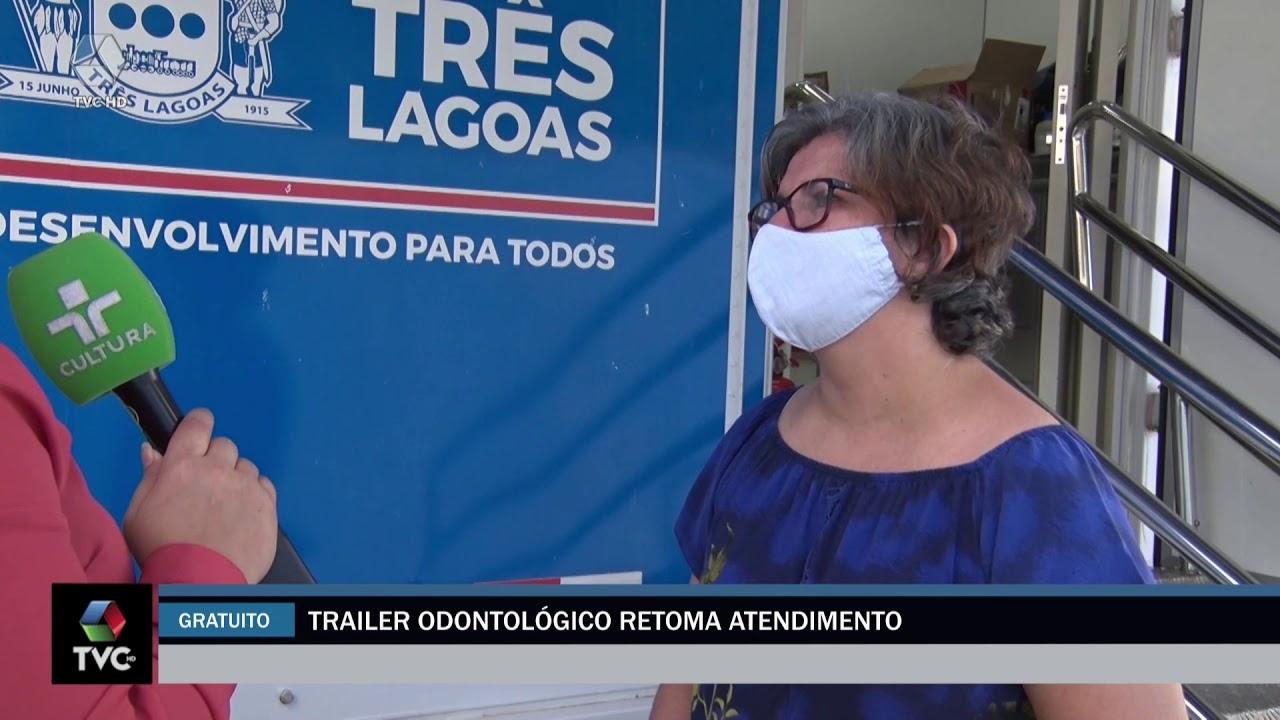 Trailer odontológico retoma atendimento e 500 pessoas estão na fila de espera